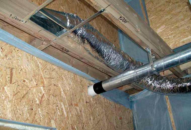 Как сделать трубу на вентиляцию в коттедже