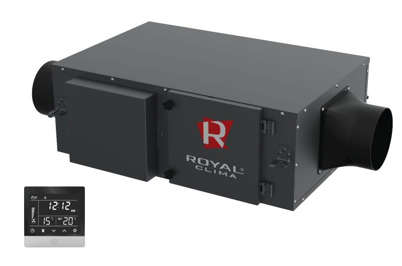 Компактная приточная установка VENTO RCV-500 с нагревателем 1,7 кВт