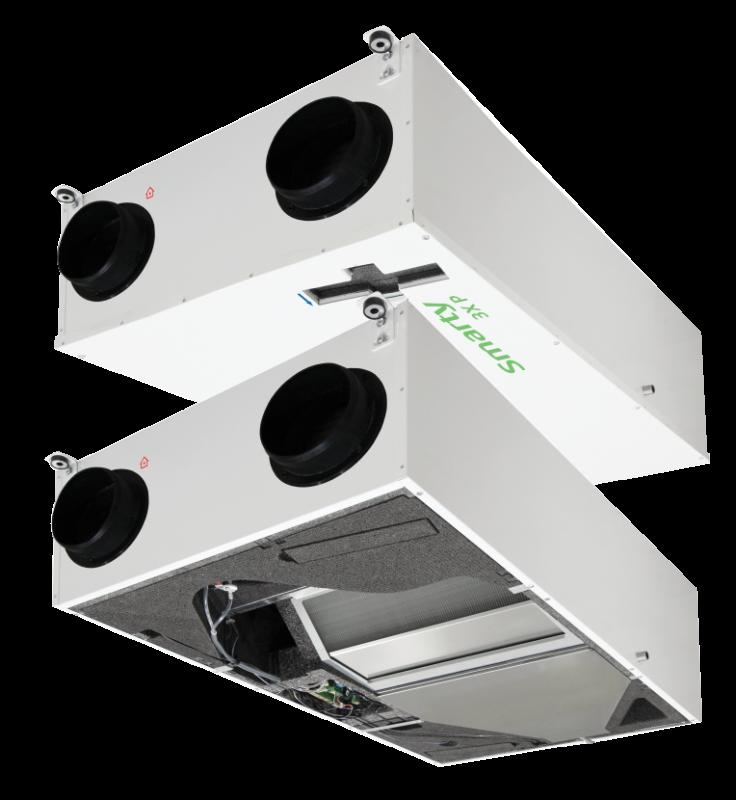 Компактная приточно-вытяжная установка с пластинчатым рекуператором Smarty 2X P