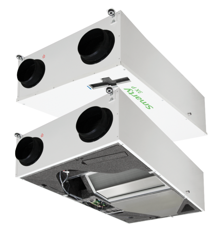 Компактная приточно-вытяжная установка с пластинчатым рекуператором Smarty Smarty 4X P