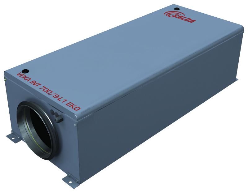 Компактная приточная установка с электрическим нагревателем VEKA INT 1000-5,0 L1 EKO